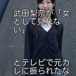 武田梨奈が「女として見れない」とテレビで元カレに振られたなんて・・
