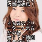 西岡優妃の父は西岡徳馬!49歳のフリーターとまさかの結婚???徳間の反応は?
